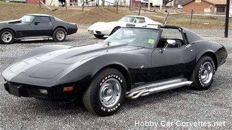 Corvette Black 1977 black black corvette 4spd for sale