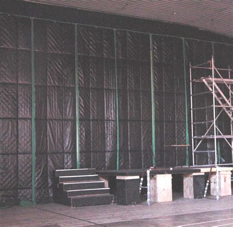 acoustic drape soundproofing curtain for industrial noise problems