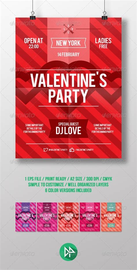 valentines event s day poster template graphicriver