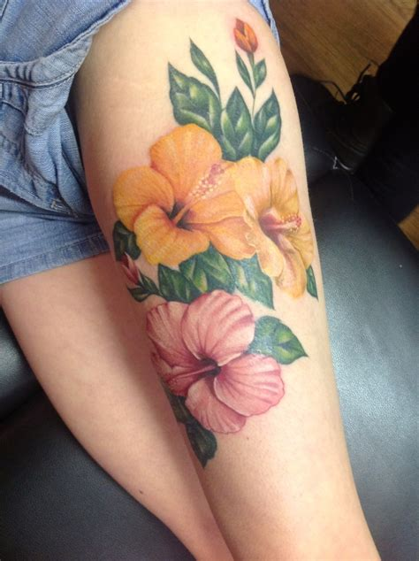 flower tattoo designs on thigh tattoos on ambigram note tattoos