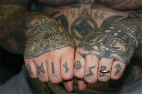 aryan nation tattoos white prison gangs aryan brotherhood