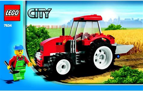 lego tractor tutorial city lego tractor instructions 7634 city