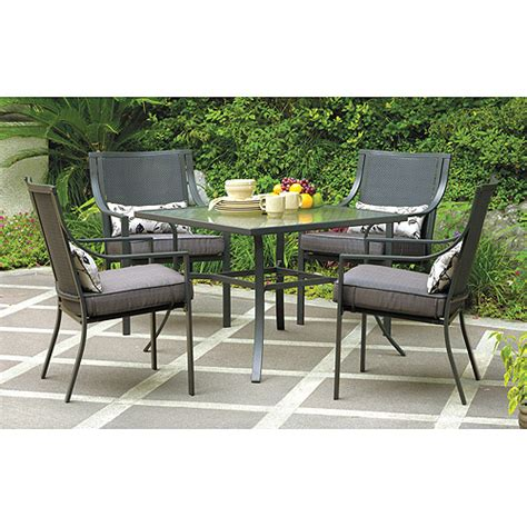 Mainstays Furniture by Mainstays Alexandra Square 5 Patio Dining Set Grey