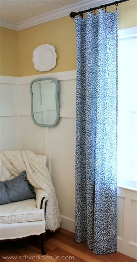 easy curtains no sew easy no sew curtain panels artsy chicks rule 174