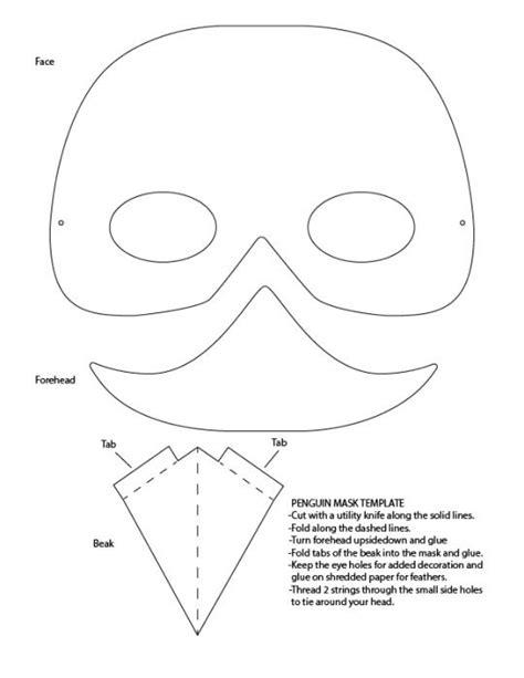 Penguin Mask Google Search Penguini S Grade 5 2013 Pinterest Penguins Penguin Costume No Mask Template
