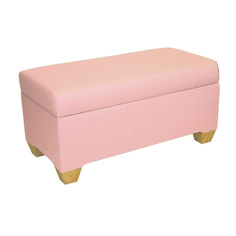 pink storage bench skyline furniture kids storage bench in duck light pink