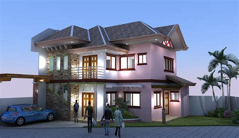 two storey building adc drafting design render two storey residential building