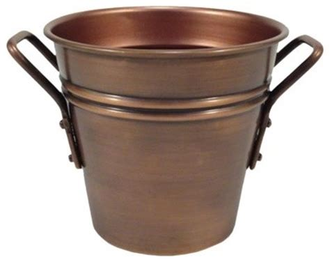 smith hawken round copper tabletop planter traditional