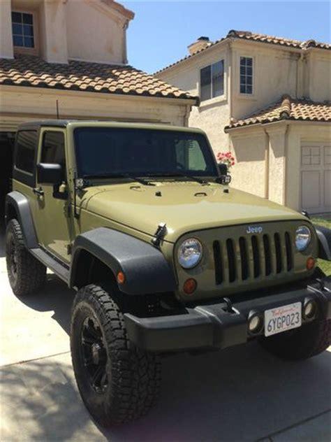 2 Door Jeep Wrangler 2013 Find Used 2013 Jeep Wrangler Sport 2 Door Commando Green