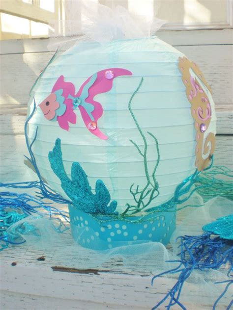the sea centerpieces the sea table centerpiece or theme fish seahorse conch shell and starfish