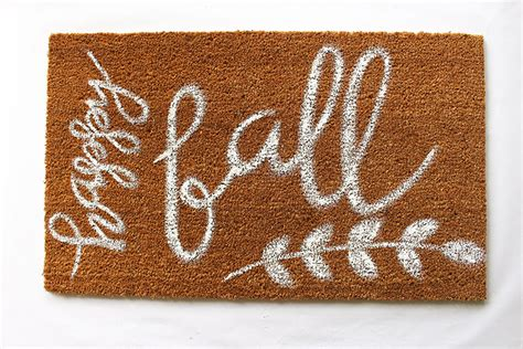 Fall Doormat diy painted fall doormat within the grove