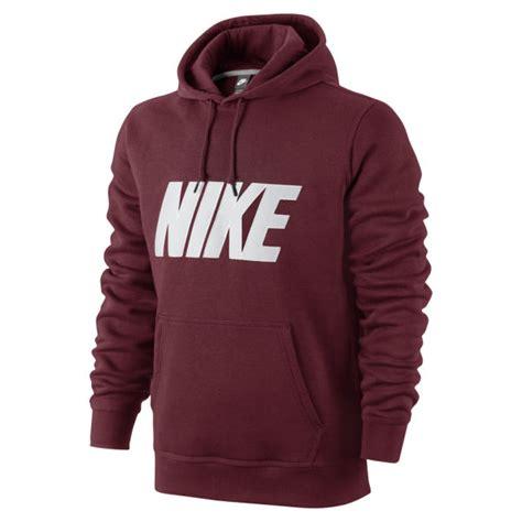 Sale Jaket Hoodie Just Do It Nike Maroon nike s club twill applique logo hoody burgundy sports leisure zavvi