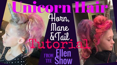 unicorn hair tutorial horn mane amp tail crazy hair day