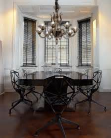Lighting Dining Room Chandeliers L1430k8 8 Light Smoky Murano Glass Modern Chandelier Modern Dining Room New York By