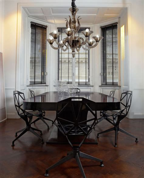 Modern Chandeliers Dining Room by L1430k8 8 Light Smoky Murano Glass Modern Chandelier