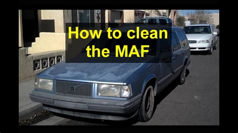 maf mass air flow sensor cleaning volvo red block     votd youtube