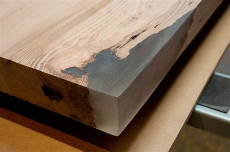 woodworking epoxy stacklab using epoxy to square the edges of a slab