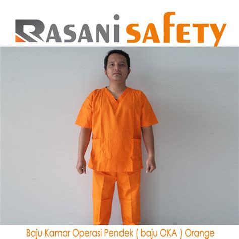Baju Safety Lengan Pendek Baju Safety Logo baju kamar operasi pendek baju oka orange rasani safety