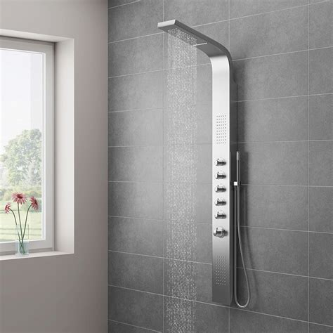 Bristan Bath Shower Mixer Thermostatic milan shower tower panel stainless steel thermostatic