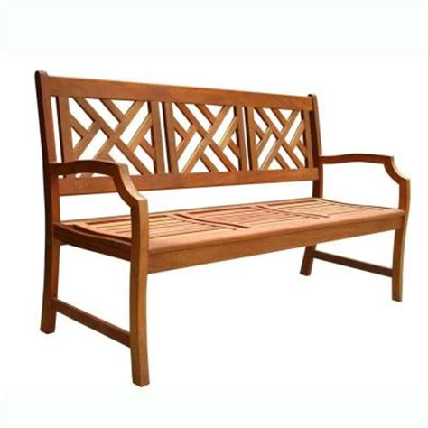 home depot outdoor bench vifah designer garden patio bench v188 the home depot