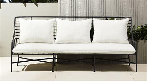metal couch breton black metal sofa cb2