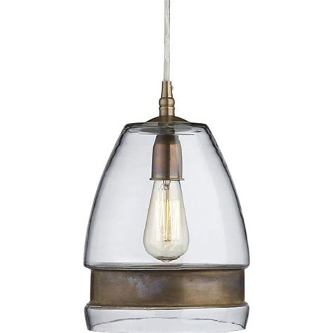 Crate And Barrel Pendant Light Morela Glass Pendant L Crate And Barrel