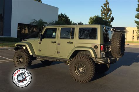 Matte Army Green Jeep Wrap Wrap Bullys