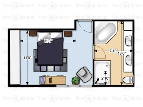 Small Master Bath With Walk In Closet Or Large Bathroom