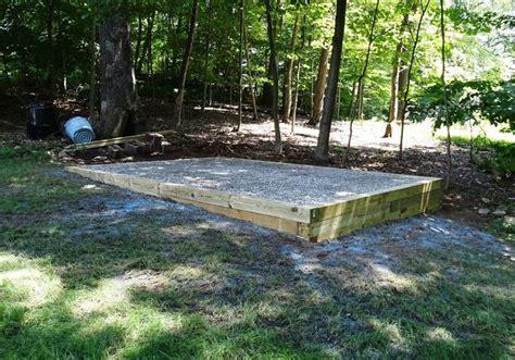 reliable shed site preparation gravel concrete bases
