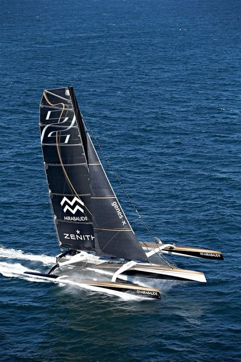 Sail Maxi maxi spindrift 2 is the largest racing trimaran in the world 40 meters trimaran