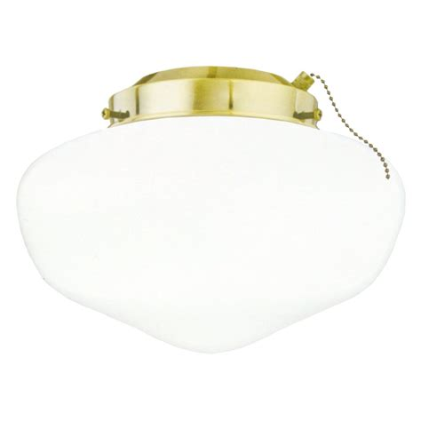 Polished Brass Ceiling Fan Light Kit Westinghouse 77811 Polished Brass Schoolhouse Glass Ceiling Fan Light Kit Elightbulbs