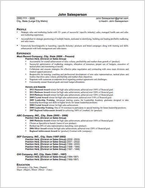 Resume Exles For Sales Sales Resume Sle Theresa Delgado