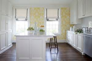 Yellow Kitchen White Cabinets White Kitchen Cabinets With Granite Countertops