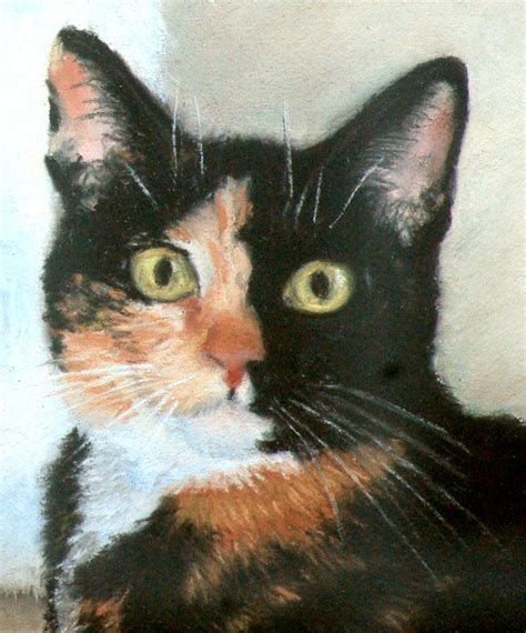 calico cat painting percy ebi and augie a portrait of calico cats the