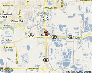 Mulberry Florida Map by Mulberry Florida