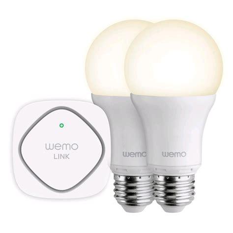 Led Light Bulbs Deals Belkin Wemo Led Lighting Starter Set E27 800 Lumens 60 Watt Uk Deals Special Offers