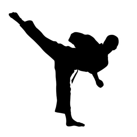 Life Size Athlete Wall Stickers karate silhouettes wall decals karate silhouette decals