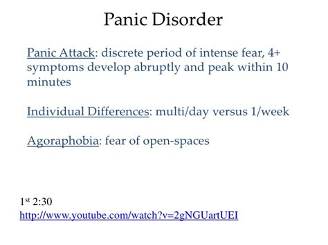 neuropharmacology anxiety disorders