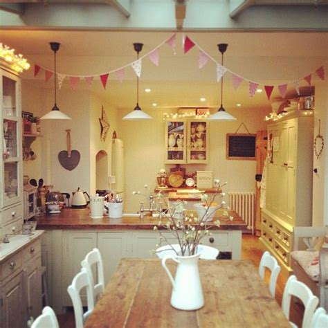 kitchen tidy ideas clean tidy kitchen left my lights up as its so gloomy at the moment and put my bunting