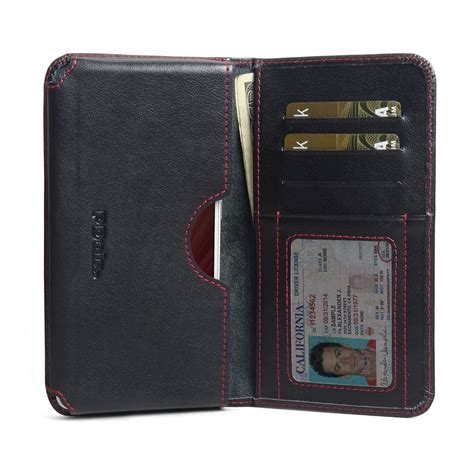 xiaomi redmi note 4 leather wallet sleeve stitch pdair