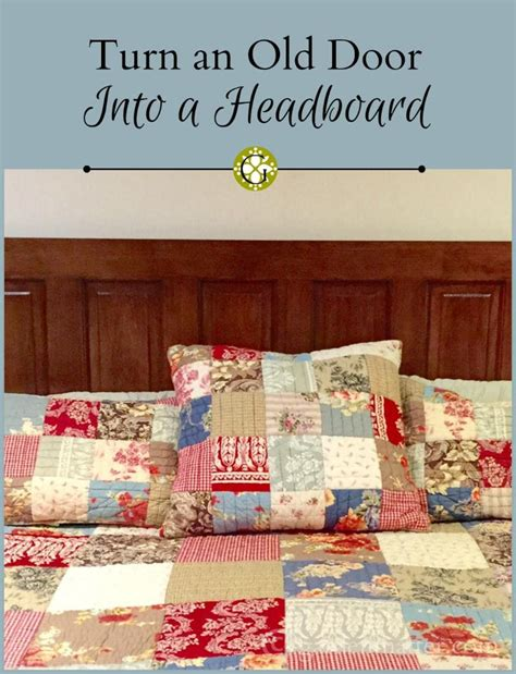 diy how to turn an door into a gorgeous headboard