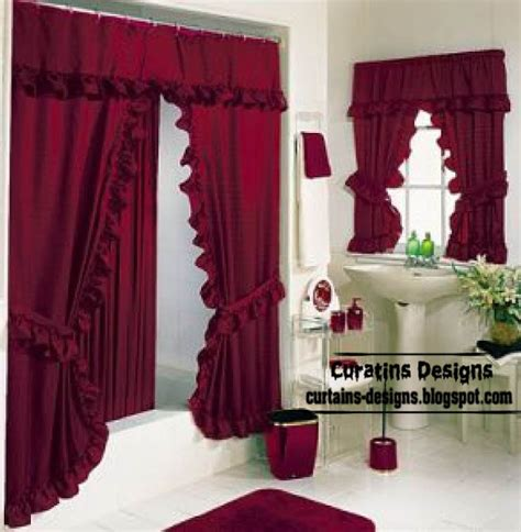 red shower curtain set classic bathroom curtain set design in red