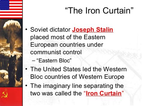how is the iron curtain a dividing line cold war