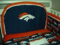 Baby Nursery Crib Bedding Set W Denver Broncos Fabric Ebay Denver Broncos Crib Bedding