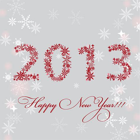 2013 happy new year card free vector graphic download