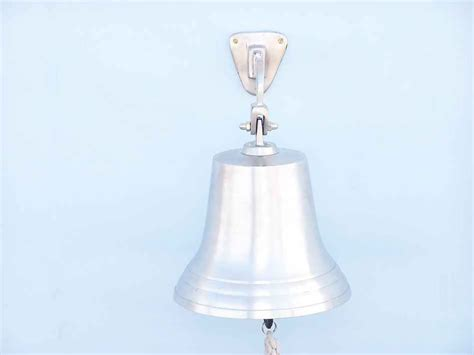 beach home decor wholesale buy brushed nickel hanging ship s bell 15 inch wholesale