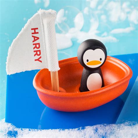 sailing boat bath toy personalised sailing boat bath toy by twenty seven