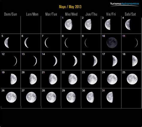 fases luna mayo calendario lunar
