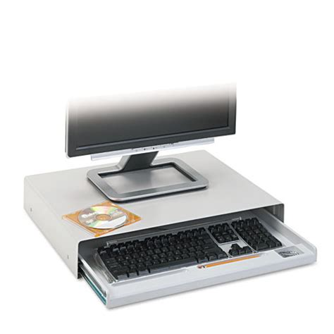 computer monitor stand with keyboard drawer furniture gt office furniture gt tray gt monitor stand