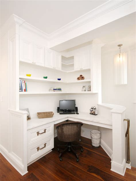 Built In Corner Desk Ideas Interior Design Amazing Modern Corner Home Office Design With Custom White Desk Design And
